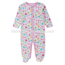2017 new design soft comfortable cute baby rompers printed long sleeve winter baby clothes romper
