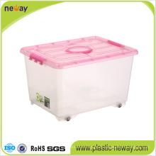 Großer transparenter Aufbewahrungsbehälter aus Kunststoff mit Deckel