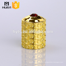 Fabriqué en Chine or personnalisé bas prix parfum verre bouteille zamac casquette