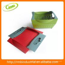 Venta caliente de plástico de frutas y hortalizas cestas de almacenamiento