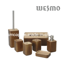 Rubber Wood Bathroom Accessory (WBW0444A)