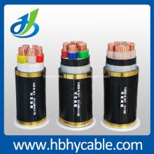 Cable de transmisión revestido PVC aislado PVC del conductor de cobre 0.6 / 1KV