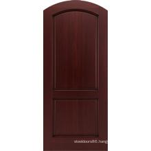 Mahogany Entrance Apartment Round Top Wooden Doors Design