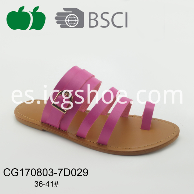 latest ladies pu slippers