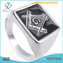 Men's MASONIC Freemasons Classic Band Biker Stainless Steel Ring