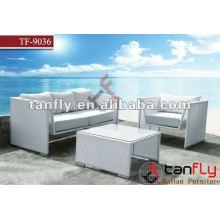 TF-9036 М-образный чистый белый современный минималистский ротанга диван