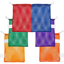 Eco friendly durable nylon mesh jewelry gift laundry drawstring bag