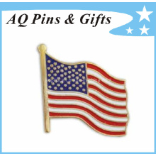 Cpsia Aprovado EUA metal bandeira Lapel Pin para Badge personalizado (badge-034)