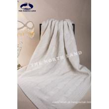 Cobertor de caxemira com cabos grandes