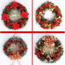 Collection décorative d'arbres nationaux Couronnes mélangées rouges de Noël (C-6)