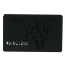 Рельефное число / Letter Card с выгравированным лазером Unique No.