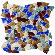 Foshan Factory Price Wall Decorative Colorful Ceramic Glazed Mosaic Tile
