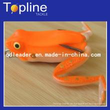 Bunte weiche Frosch Fischköder zum Angeln