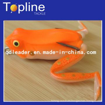 Colorido suave rana Señuelos para la pesca