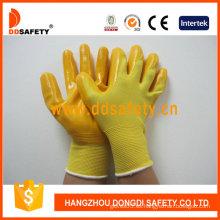 Nylon amarillo con guante de nitrilo amarillo-Dnn346