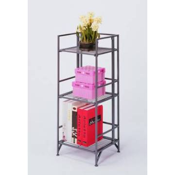Three Shelves Storage Rack, Metal Tube