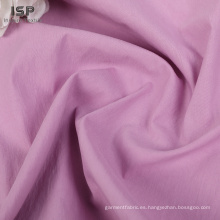 Tela de mezcla de nylon de algodón tejido liso sólido al por mayor
