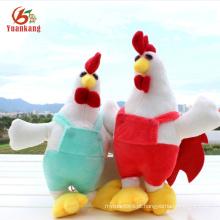 Ano novo chinês squeaky macio galo amarelo recheado galo pelúcia frango brinquedo