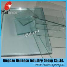 1.5mm / 1.8mm vidrio de hoja transparente con ISO