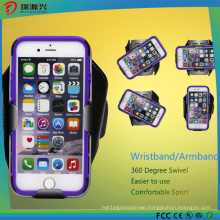 Newest Customize Logo Swivel LED Armband Case for Mobile Phones