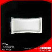 Guangzhou hot sale wholesale rectangle porcelain plate