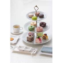 Prato de sobremesa de melamina / prato de chá de três camadas (WT19910S)