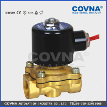 Levantamiento directo 0 presión NC 2 vías de latón 3/8 '' válvula de solenoide de agua
