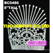 Coronas del desfile del rhinestone de la manera