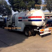 5000 litros de caminhão de tanque do gás do LPG com distribuição