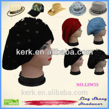 LSW53 Ningbo Lingshang Popular accept custom design winter fashion knitted beanie hat for women