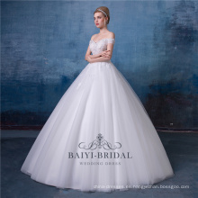 Vestidos de novia de la longitud del piso vestido nupcial HA572