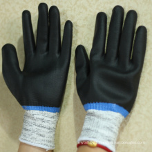 NMSAFETY nitrile fully coated anti slip and cut resistant hand gloves