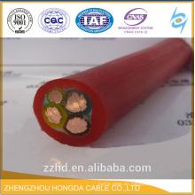 H07RN-F Cable / Conductor de cobre trenzado flexible + aislamiento de caucho + chaqueta de neopreno