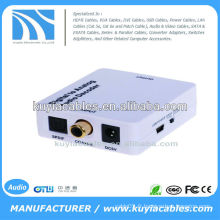 Signaux audio numériques coaxiaux ou Toslink au convertisseur audio analogique L / R RCA