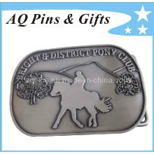 Fivela de cinto de metal personalizado com fivela de Pin Antique (cinto fivela-005)