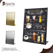 Metal Counter Menu Sales Promotion Display Stand
