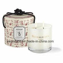 Bougie parfumée de luxe de cadeau de soja