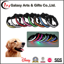 New Best Selling Multi-Color Nylon Pet Coleira Piscando LED Dog Collar