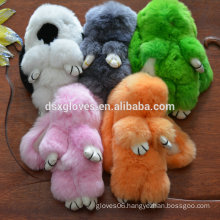 2016 New Arrival Lovely Rabbit Keychains Bag Decoration Key Ring Fur Key Chain