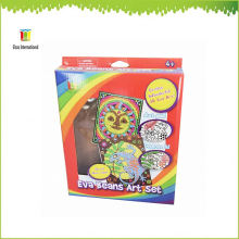 niños bricolaje pintura artesanal y regalo, venta al por mayor de EVA frijoles Kids Craft Kits set