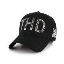 Customized unisex quality baseball hat with metal decoration