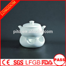 Restaurante de hotel de alta qualidade tigela de sopa de porcelana chinesa com suporte
