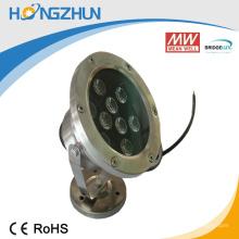 Aluminio + acero inoxidable 9w rgb llevó la eficacia del precio bajo de la lámpara del proyector con la alta prueba