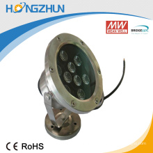 Aluminum +stainless steel 9w rgb led projector lamp low price efficiency with high proof