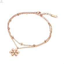 Dubai nova moda fantasia design mulheres pulseira de ouro, mão cadeia menina pulseira jóias senhora rosa pulseira de ouro