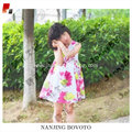 Children's Sleeveless Print flower dress