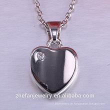 Valentinstag Frauen Accessoires Herz Anhänger 925 Silber Schmuck