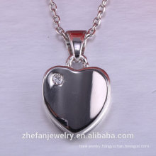 Valentine ' s day women accessories heart pendant 925 silver jewelry