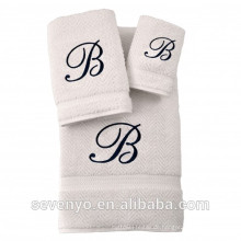 100% türkisches Baumwoll Jacquard Handtuch Set mit Logo, Multi Farbe Auswahl HTS-136 Großhandel