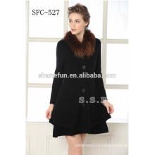 Новая Мода Женщин 100% Кашемир Пальто С Хорошим Ценой